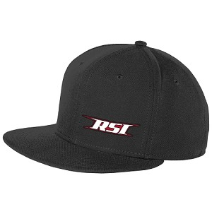 RSI Snap Back - Flat Bill ( Black )